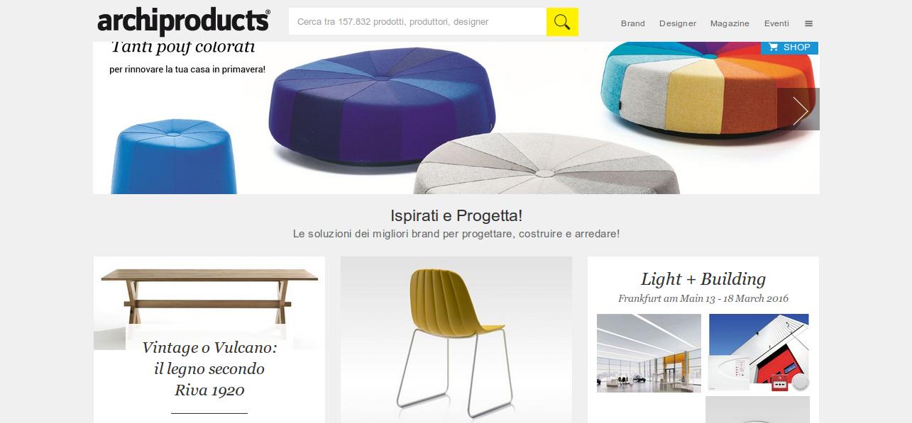 Archiproduts.com, Il design a portata di un click
