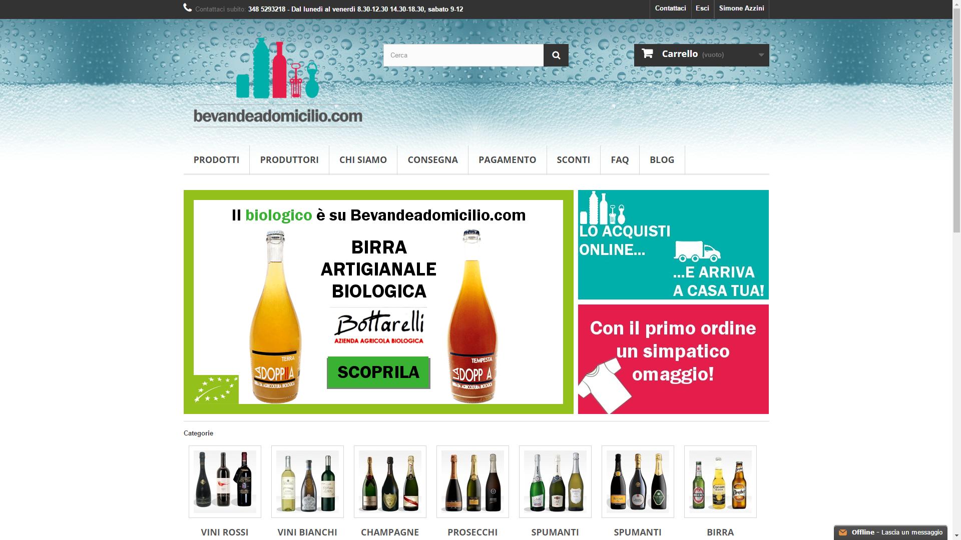 Bevandeadomicilio.com, vendita online vino, liquori e birra