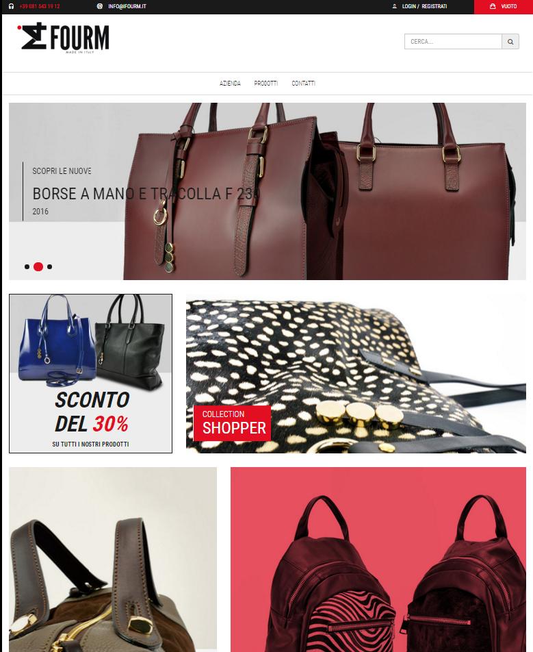 ifourm.it, un ecommerce dedicato alla vendita di borse e zaini in pelle