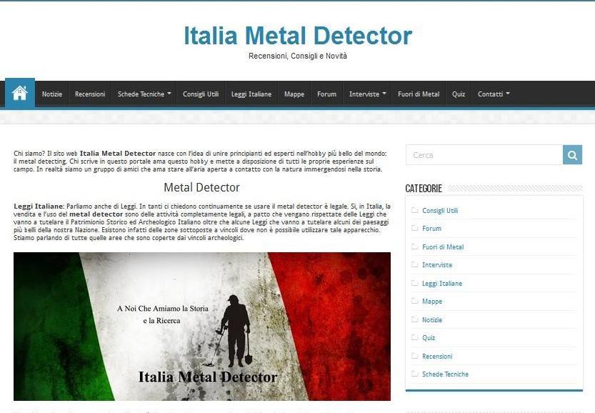 italiametaldetector.com, il blog dedicato al metal detecting