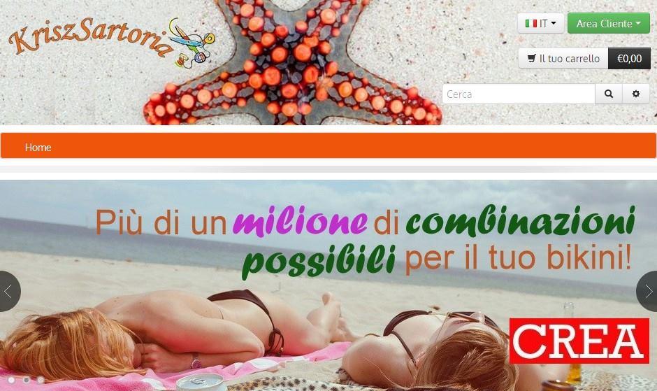 kriszsartoria.com, sartoria online di costumi da bagno e intimo