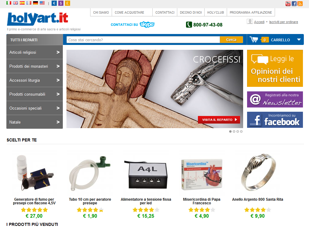 Holyart.it, e-commerce di articoli religiosi e arte sacra