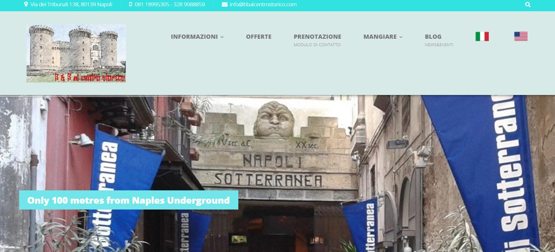 Bbalcentrostorico.com, un nuovo b&b nel cuore di Napoli