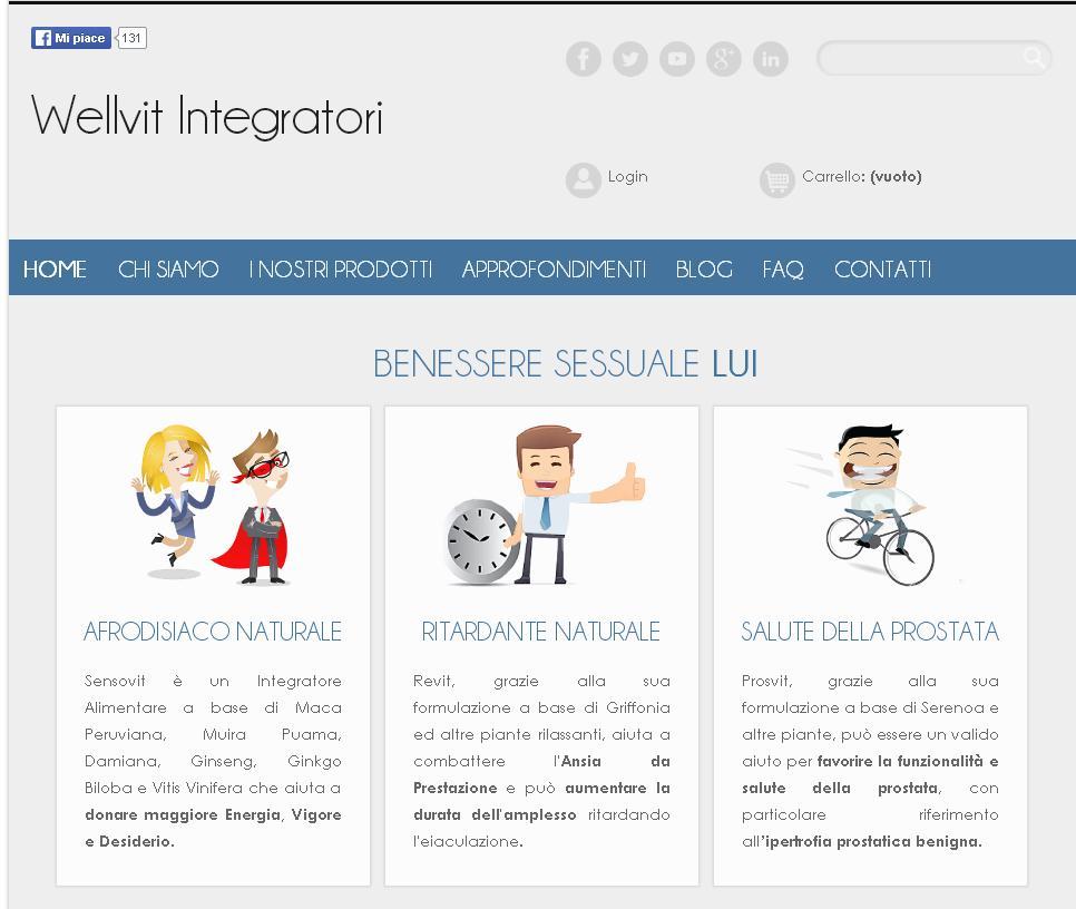 Wellvit.it, il sito per acquistare integratori naturali per rimediare a disfunzioni sessuali