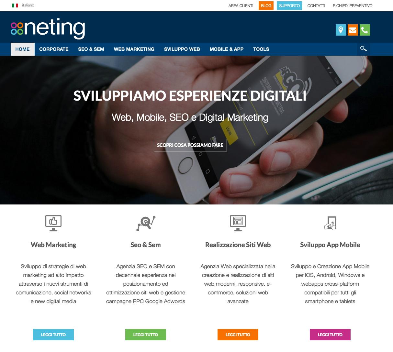 Neting.it, il sito della web agency Neting specializzata in realizzazione di siti web