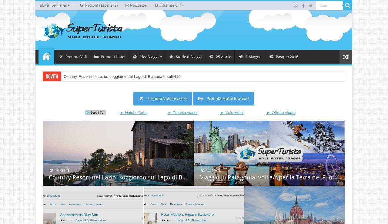 superturista.it, il sito per chi è interessato a offerte volo e hotel