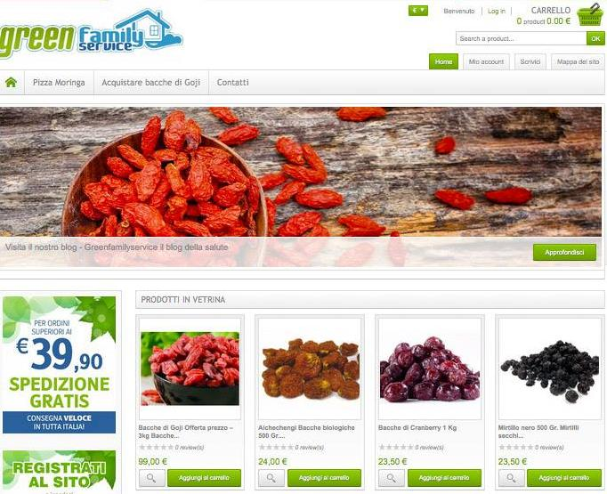 Greenfamilyservice.net, la soluzione per chi cerca superfood biologici