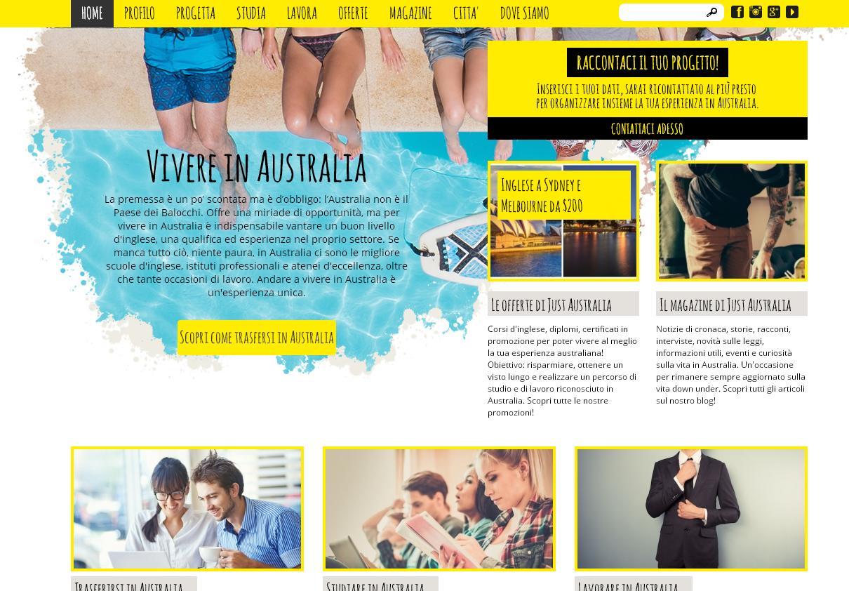 JustaAustralia.it, il sito dell'agenzia che aiuta a trasferirsi in Australia