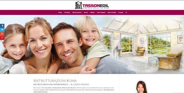tassonedil.it, il sito dell'azienda edile Tassoedil per la ristrutturazione della propria casa