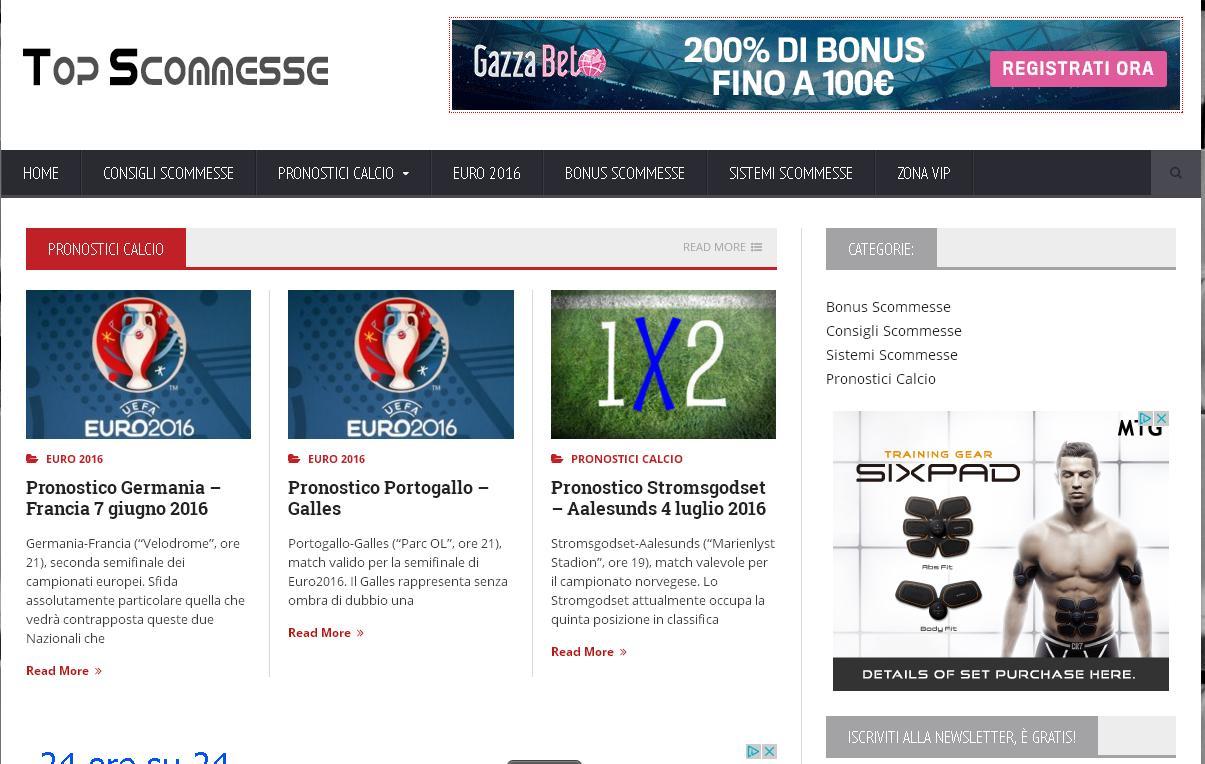 TopScommesse.com il sito per Pronostici e Scommesse