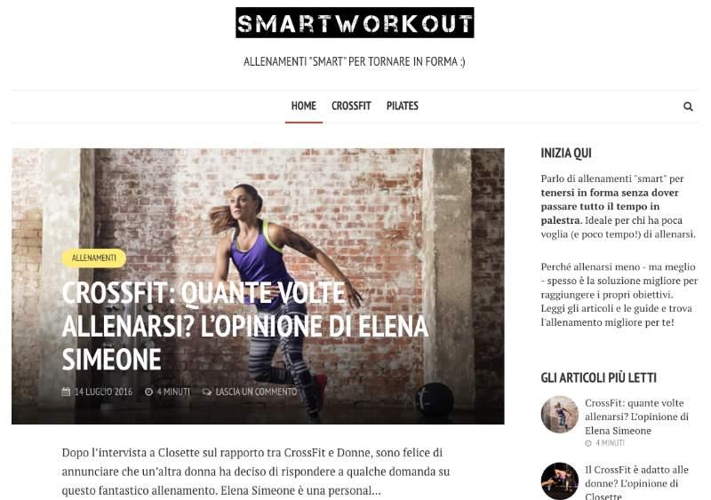 """SmartWorkout.it, allenamenti """"smart"""" per essere in forma in poco tempo!"""