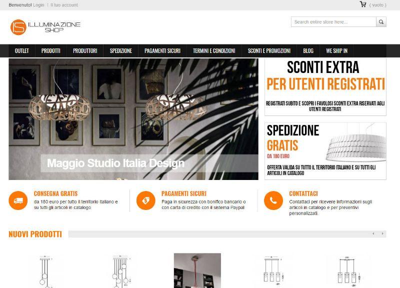 Illuminazioneshop.com, ecommerce di prodotti nel settore illuminazione