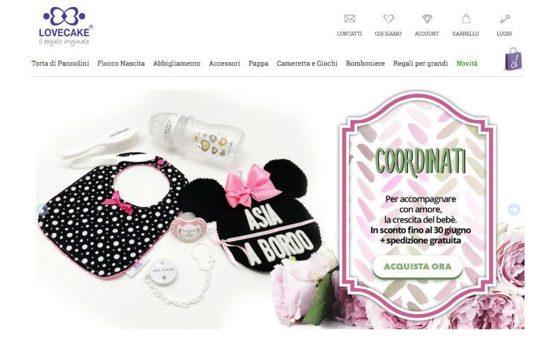 Lovecake.it, accessori per bambini e regali per mamme e papà