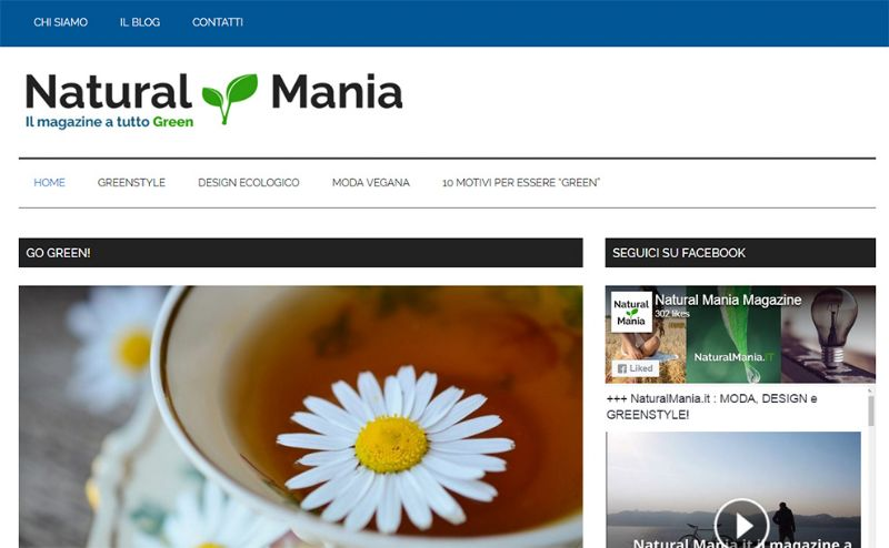 "NaturalMania.it: un blog tra moda, design e ""lifestyle"" green"