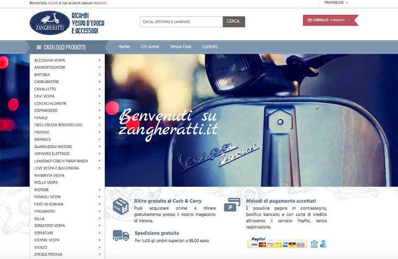 zangheratti.it, il sito giusto per i ricambi della vespa