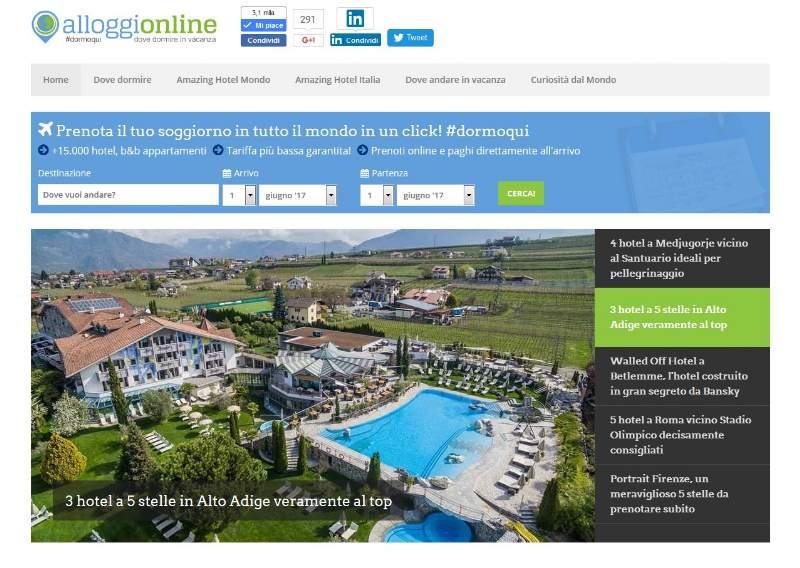 Alloggionline.com, selezionatore di hotel