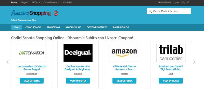 Amazingshopping.it , il sito per Acquistare Online Qualsiasi Cosa con i Codici Sconto e le Offerte di Amazing Shopping