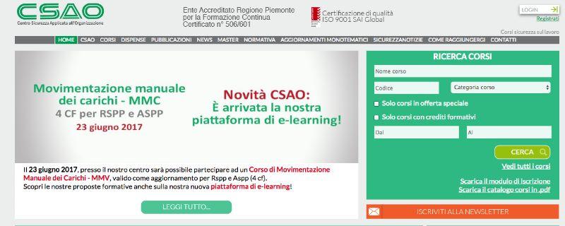 Csao.it, formazione per la sicurezza sul lavoro a Torino