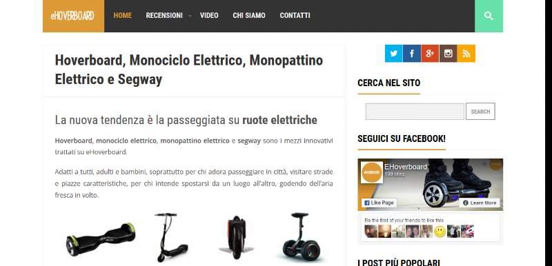 eHoverboard: tutto sui mezzi elettrici di trasporto personale