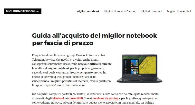 migliornotebook.net, il portale dedicato al mondo dei pc portatili