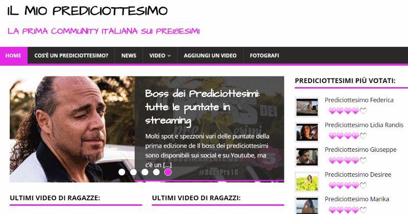 IlMioPrediciottesimo.it, il sito web dedicato ai prediciottesimi
