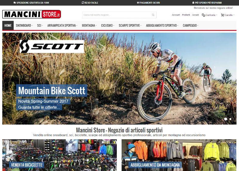 ManciniStore.it: il negozio di articoli sportivi per gli amanti della montagna