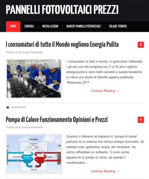 pannellifotovoltaiciprezzi.org, il sito dedicato ai prezzi dei pannelli fotovoltaici