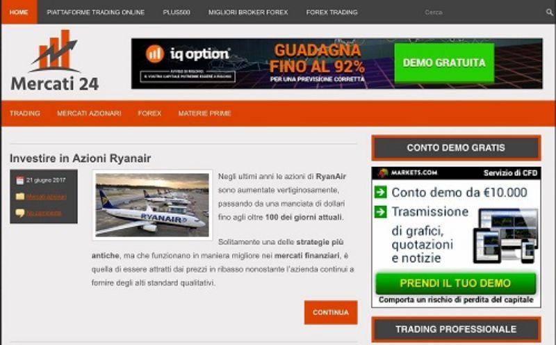 Mercati24.com, il sito di informazione finanziaria