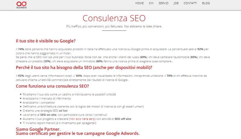 Quindo.it, agenzia SEO e web marketing