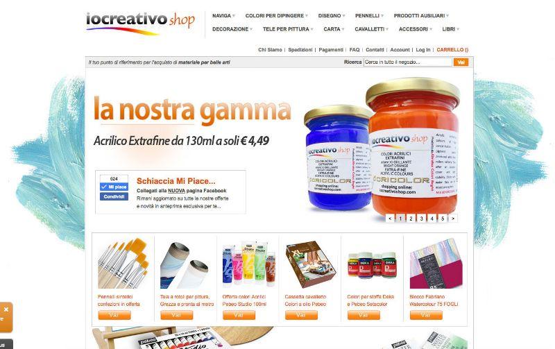 iocreativoshop.com, l' ecommerce degli articoli per pittura
