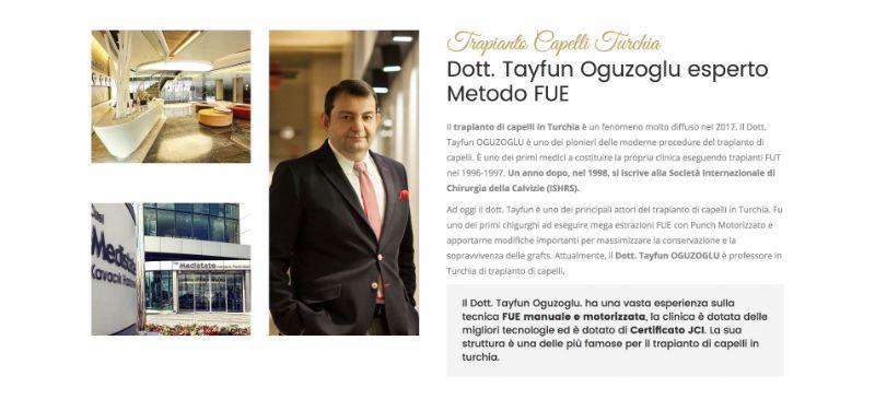 httptrapiantocapelliturchia-tayfun.com, il sito con info e spunti riguardo alle tecniche di trapianto
