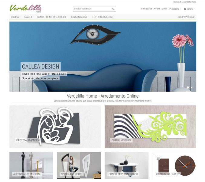verdelillahome.com, ecommerce e sito di arredamento online