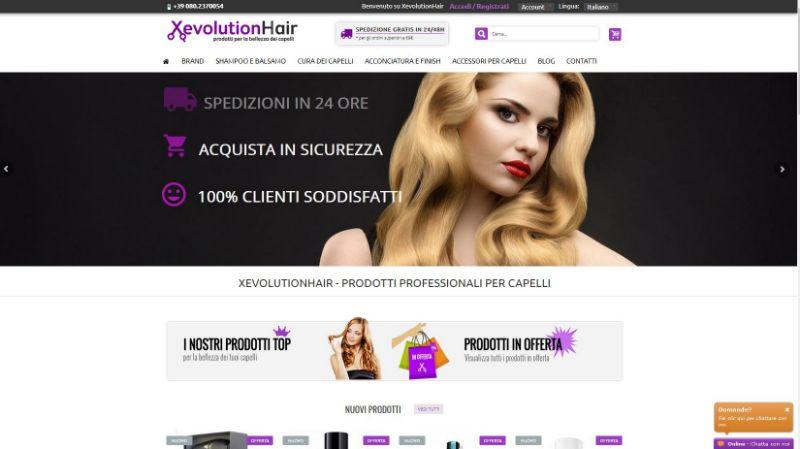 xevolutionhair.it, il sito di XevolutionHair rivenditore di prodotti per capelli