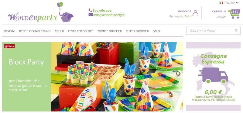 Wonderparty, articoli per le feste a prezzi contenuti!