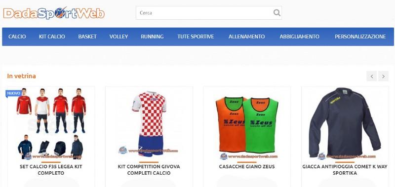 Dadasportweb il negozio online dedicato all'abbigliamento sportivo