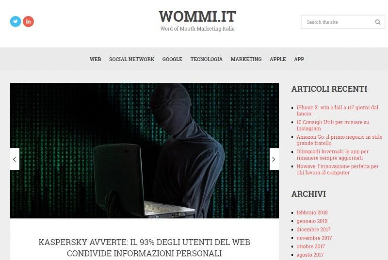Wommi.it: il sito di riferimento per gli amanti del web