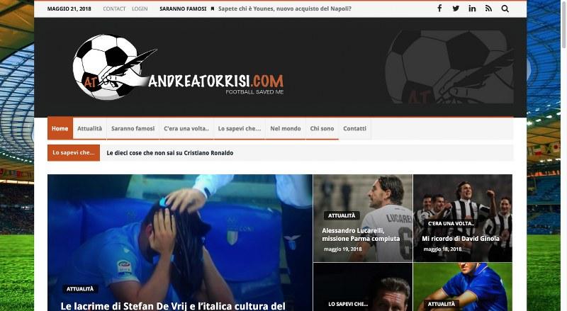 Andreatorrisi.com, un occhio speciale al calcio