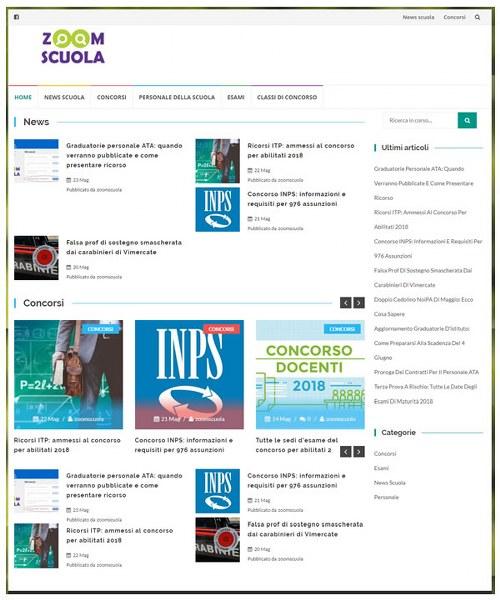 zoomscuola.it: notizie e informazioni dal mondo della scuola e dell'istruzione