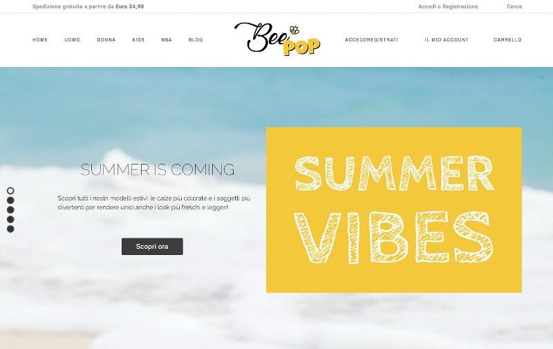 Beepop.it , il nuovo e-commerce per l'acquisto di calze originali