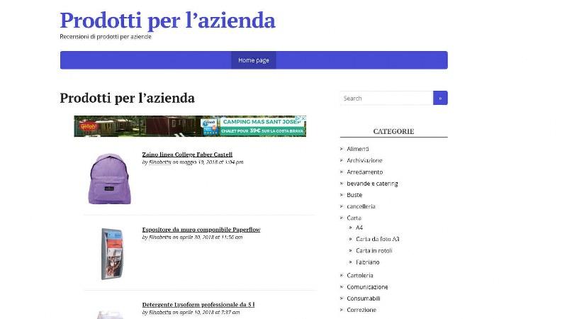 mediaufficioshopping.it, Il portale di prodotti per azienda