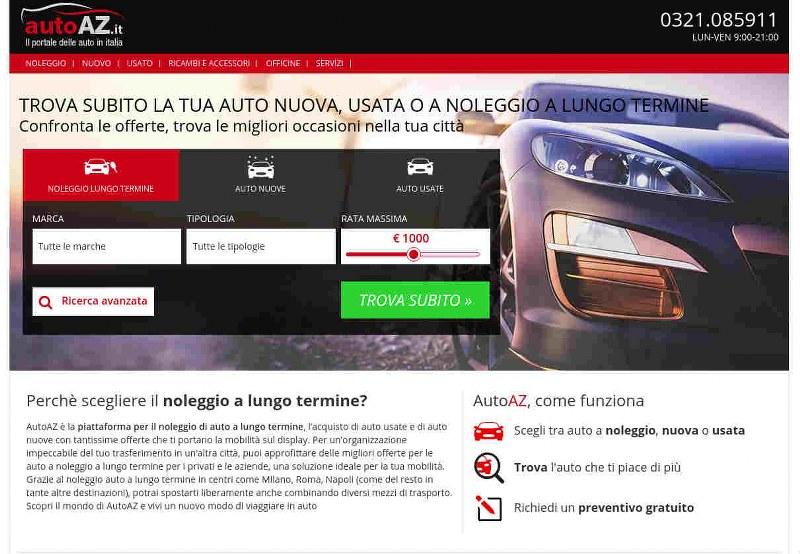Autoaz.it, il portale dedicato al noleggio a lungo termine