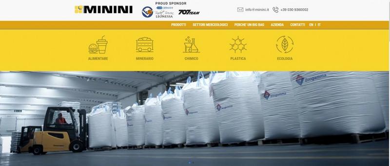 Minini – Produzione di Sacchi Big Bag per diversi contesti industriali