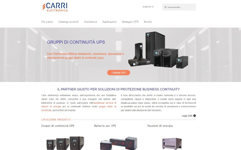 Carrielettronica.it , vendita ed assistenza su gruppi di continuità  UPS