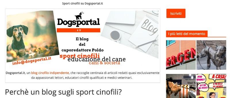 Dogsportal.it: il blog dedicato a chi ama fare sport con il cane