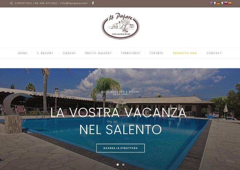 lepajare.com, il sito dell'hotel e masseria situato nel basso salento