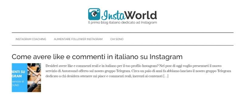 InstaWorld il primo blog italiano dedicato ad Instagram