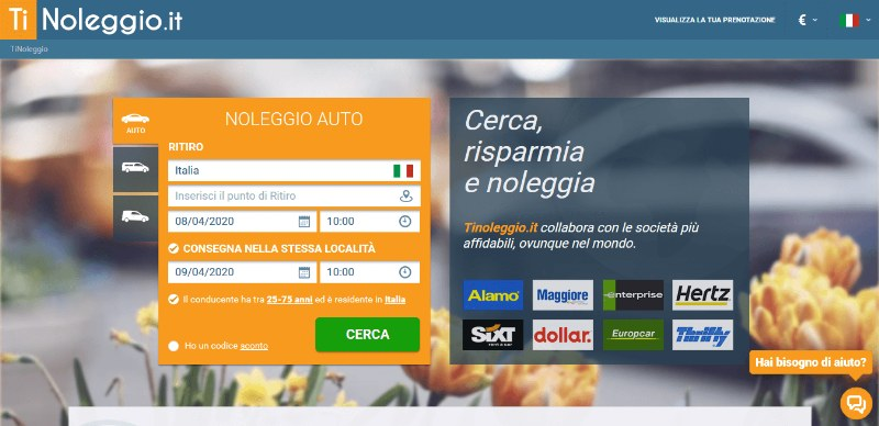 TiNoleggio.it: il sito per noleggio auto, pulmini e furgoni