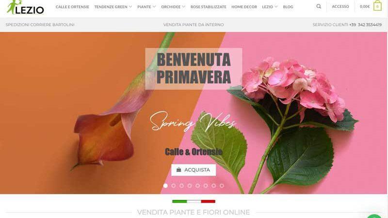 Lezio.it, il nuovo shop di vendita piante